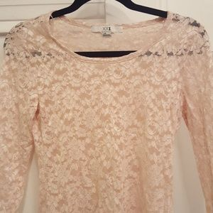Forever 21 Peach Lace Top